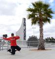 San Jose Skatepark. Guenter Mokulys, Tucknee-Spacewalk.