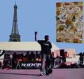 Frankreich, Paris. Kontest Euro-Cup am Trocadero-Eifelturm.