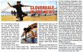 Cloverdale/Vancouver/Kanada.  Zeitungsartikel: World-Round-Up, Skateboard Veranstaltung.