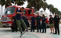 Kalifornien. Venice Beach. Street-Show.