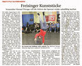 Zeitungsartikel: Deutsche Skateboard Meisterschaft in München.