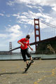 San Francisco, Golden Gate Bridge. Guenter Mokulys, No-Hand 50/50.