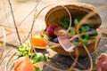 Feldsalat mit Schinken und Himbeeren