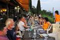 Abendessen im Hotel San Michele, mit Seeblick