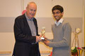 Peter MacLaverty presents Ali Saleem with his award at the SCA / GXIStars Awards evening (19.1.2013)