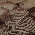 Terrassenlandschaft in Langtang, 40x40cm m.P., Tusche auf Papier