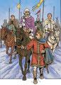 Pépin le Bref escorte le pape Etienne II jusque Ponthion