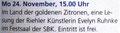 Ankündigung Lesung in der Kölnischen Rundschau 2014