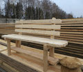 Скамья деревянная светлая