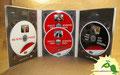 № 187 – Диджипак DVD 6 полос, 3 трея на 4 диска + СлипКейс