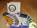 № 154 – Бокс-сет: деревянная коробка-пенал + 5 конвертов + 5 открыток