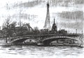 Pont Alexandre III,  Paris  1960