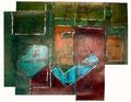 Ohne Titel - 2008 - Acryl auf Papier - ca. 66,5 x 84 cm