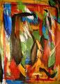 Ohne Titel - 2008 - Acryl auf Papier - 70,4 x 50,4 cm