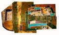 Ohne Titel - 2008 - Acryl auf Papier - ca. 50 x 88 cm