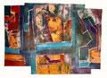 Ohne Titel - 2008 - Acryl auf Papier - ca. 58 x 81 cm