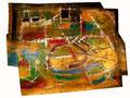 Ohne Titel - 2008 - Acryl auf Papier - ca. 62 x 81 cm