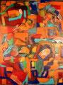 Ohne Titel - 2008 - Acryl auf Holz - 80 x 60 cm