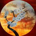 Kirschblüte   Druck  auf Schallplatte