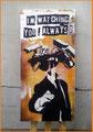 40 x 84 x 4 cm rückseitig signiert / ML streetart 7