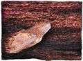 """"""" Muränen"""" Relief, Öl auf Holz, 30 x 40 cm 2010"""