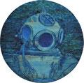 """""""Glocke"""" Relief, Öl auf Holz, 60 x 60 cm 2010"""