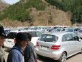 駐車場は混雑ぎみ。