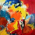 """""""Changement de Cap""""Acrylique sur toile 100 x 100 cm"""