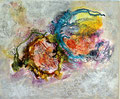 """""""DOUBLE JEU"""" 2013 Acrylique sur toile - 65cm X 54cm"""