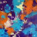 """""""Petite Impression Colorée"""" Acrylique sur toile 60 x 60 cm"""