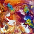 """""""Prisme"""" Technique Mixte sur toile 60 x 60 cm"""