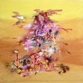 """""""FANTASIA"""" 2012 Encre et acrylique sur toile - 100cm x 100cm"""