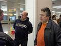 Unser Organisator Franz schaute vor dem Abflug noch etwas skeptisch