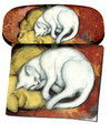 Artikel Nr. 9202 - Weiße Katze - Marc
