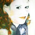 """2009 """"ganz nah 3"""" 100 x 100 cm Akryl auf Leinwand"""