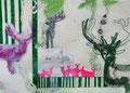 """2009 """"wild gezeichnet 3"""" A4 Mischtechnik auf Papier"""