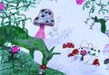 """2009 """"wild gezeichnet 5"""" A4 Mischtechnik auf Papier"""