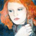 """2009 """"ganz nah 4"""" 100 x 100 cm Akryl auf Leinwand"""