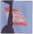 o.T., 2013/2014, Linol-, Schablonendruck, 12,5 x 12,5 cm