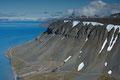 Platåfjellet med satellitanlegget / Der Plateauberg mit der Satellitenanlage