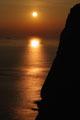 Hurtigroute im Sonnenuntergang / Hurtigruta i solnedgang