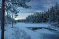 Måne over vinterskog / Mond über Winterwald, Gjerstad