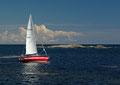 Segelboot bei Stangnes / Seilbåt ved Stangnes
