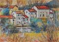 Céret - Südfrankreich ∙ 2010 ∙ Pastell ∙ 25 x 34,8 cm