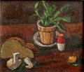 Kleines Stilleben mit Salzstreuer ∙ 1985 ∙ Öl auf Hartfaser ∙ 24,5 x 26 cm