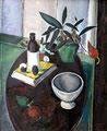 Stilleben auf ovalem Tisch ∙ 1979 ∙ Öl auf Hartfaser ∙ 75 x 60 cm