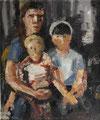 Mutter mit Kindern - Kathrin ∙ 2009 ∙ Öl auf Leinwand kaschiert ∙ 60 x 50 cm