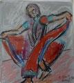 Indische Tänzerin II ∙ 2012 ∙ Pastell, Aquarell ∙ 11 x 10 cm
