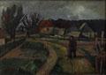 Landschaft bei Milchhorst mit Wanderer ∙ 1993 ∙ Öl auf Hartfaser ∙ 38 x 53 cm