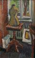 Interieur mit Schneiderpuppe ∙ 1980 ∙ Öl auf Leinwand ∙ 44 x 27 cm